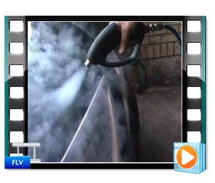 فیلم انجام روشویی خودرو با کارواش بخارشوی