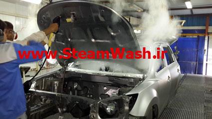 بخارشوی دما بخار در ایران خودرو