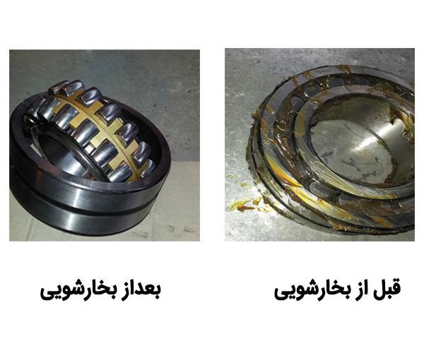 شستشوی قطعات صنعتی با بخار